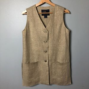 The Limited Fine Quality Collection Gold Vest  S